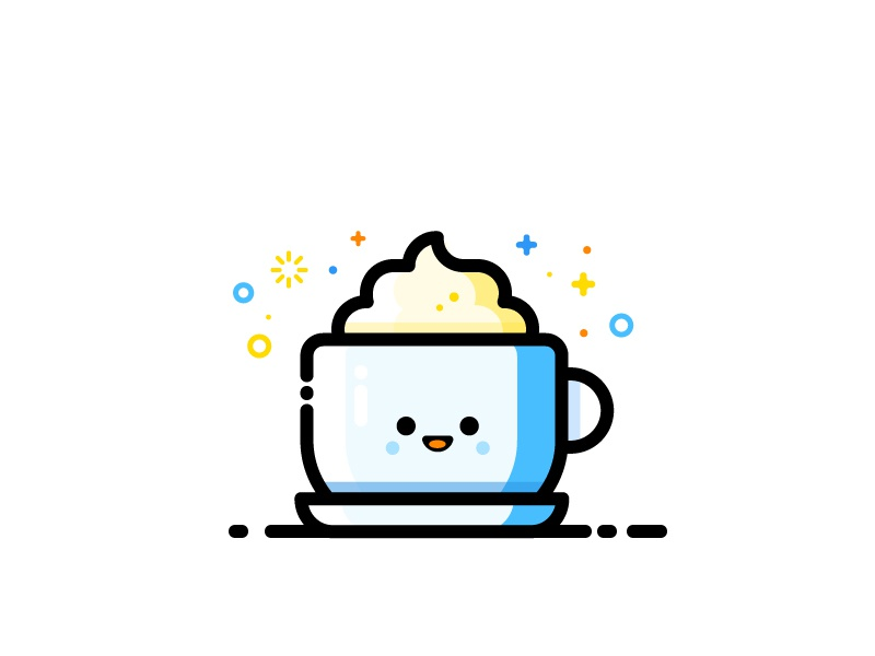 Cappuccino vector identity illustration milk