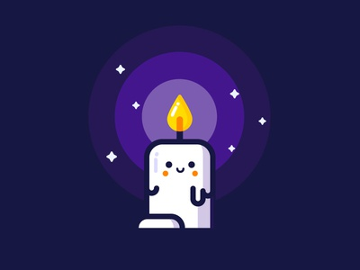 Candle candle vector identity illustration