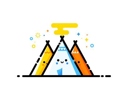 Tipi vector summer illustration identity tipi