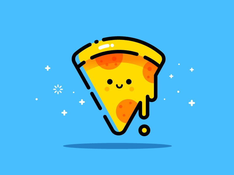 Pizza avatar friends friend mbe style smile happy cute vector illustration identity pizza