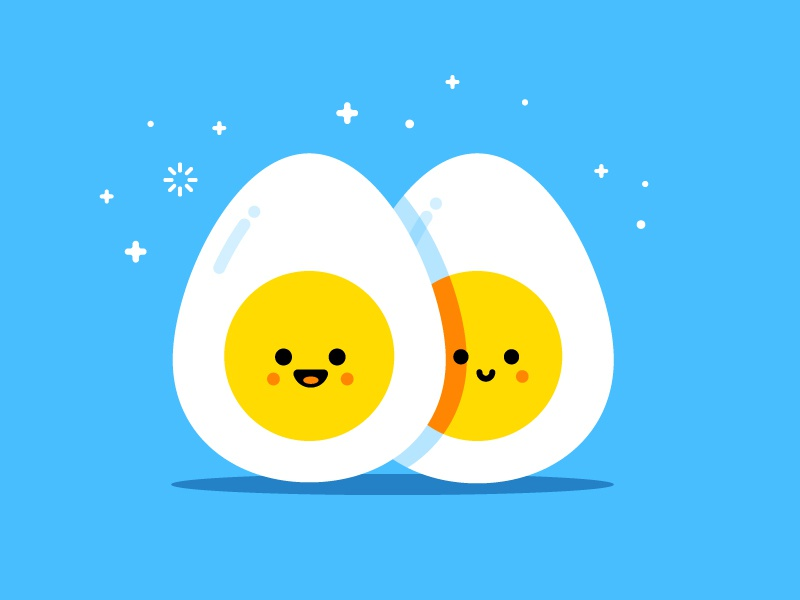 Twins similing face twin mbe style character sister brother vector illustration identity eggs egg
