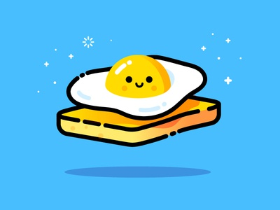 Egg vector identity illustration toast egg