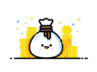 Gold happy treasure money cash illustration identity vector gold