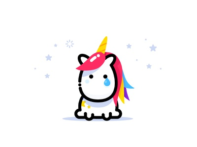 Unicorn mbe magic fantastic animal female stickers illustration vector identity unicorn