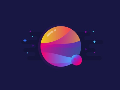 Planet illustration vector identity planet