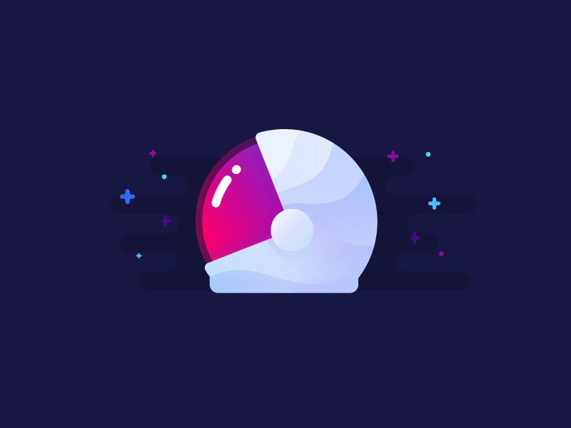 Helmet voyager exploration astro cosmonaut illustration identity space helmet