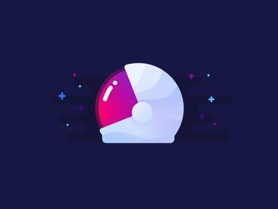 Helmet voyager exploration astro cosmonaut illustration identity space helmet