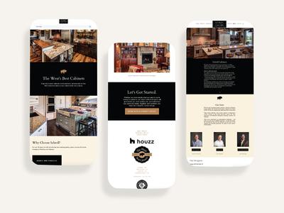 Schroll Cabinets UI/UX Web Design