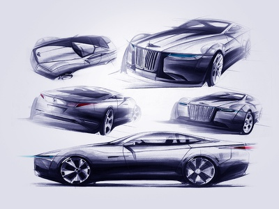 BMW Concept Car Design china uiwork car sketch