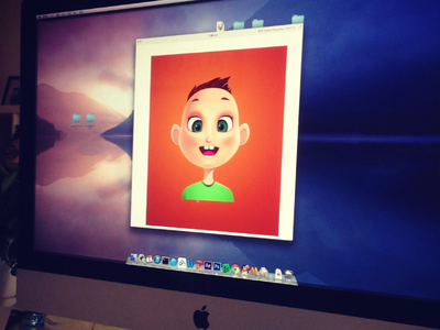 Avatar Design red uiwork boy avatar child