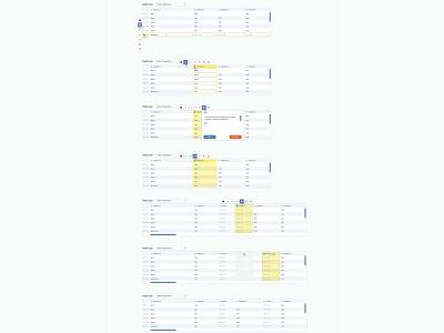 Web Based Data Visualization Concepts, 3 interaction design interaction functionality table database omnigraffle illustration vector data visualization app web ux ui design