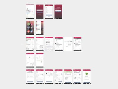 Mobile App Development payment billing register search chat mobile branding database ux ui typography design