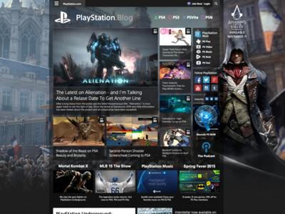 Playstation Blog Redesign