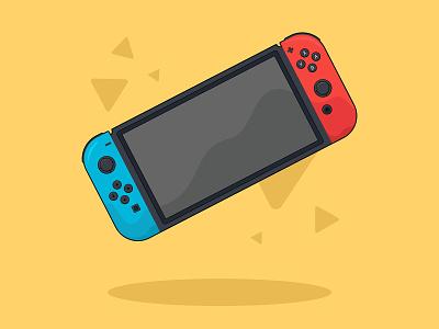 Nintendo Switch Illustration logo symbols logos branding graphic design design illustration