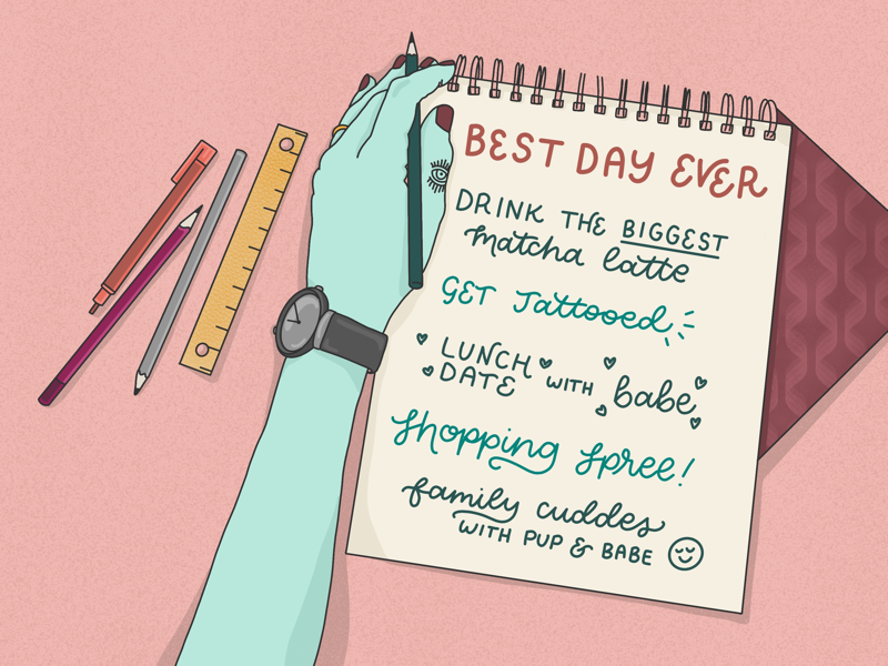 Best Day Ever fun procreate typography illustration hand lettering lettering homwork