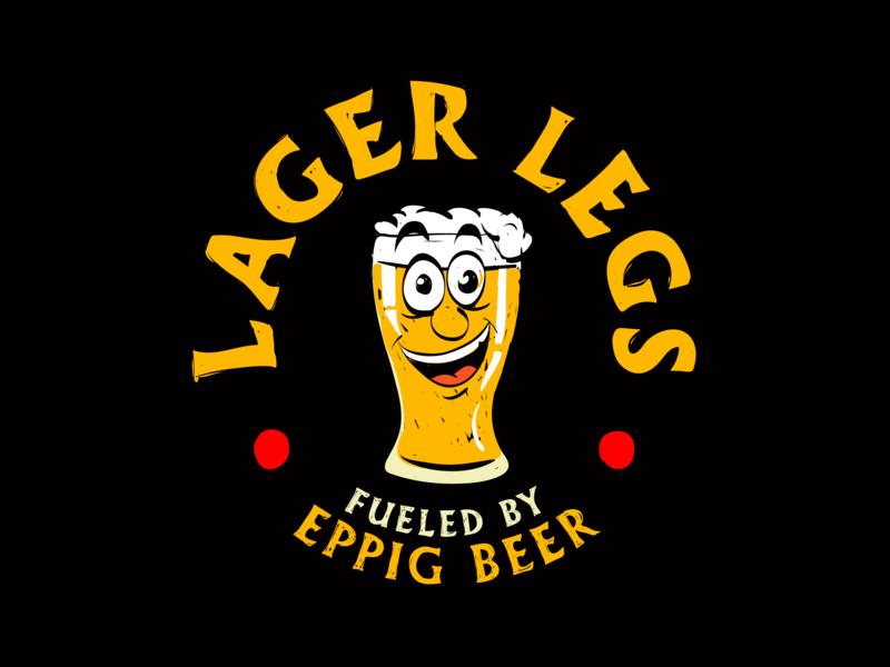 Logo Lager Legs illustration vector logo branding design