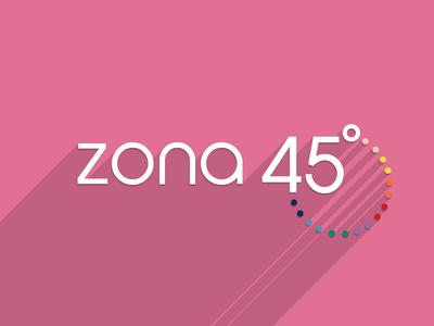 Zona 45 Logotype zona45 logotype flat long-shadow