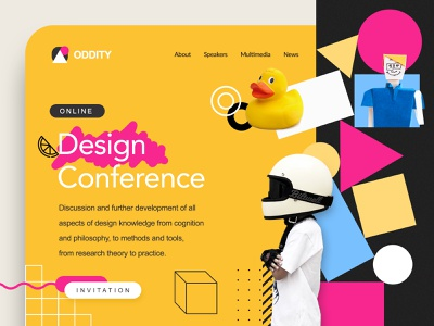 Conference Landing page website concept branding layout webdesign design website objects colors landing web