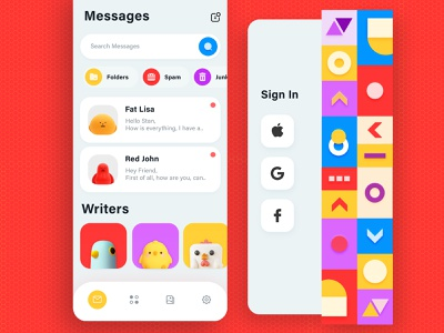 Messages app whatsapp application iphone patterns mobileapp uiux messages uidesign mobile app