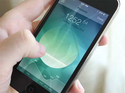 Pressure App ios iphone pressure app polygon graph blur ios7 psd