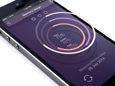 Memory Circles app ios7 ios iphone psd purple memory freepsd