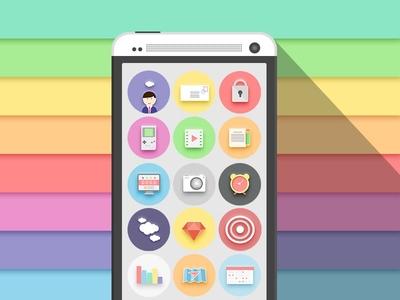 Freebie Flat Icon Set