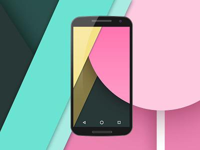 Nexus 6 flat mockup PSD nexus6 mockup psd lollipop android flat
