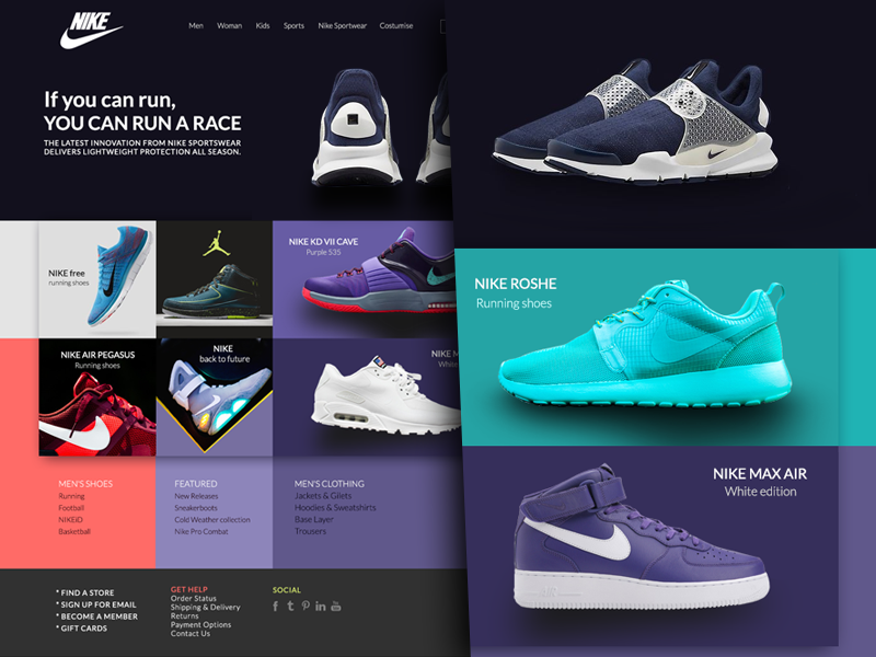 2cc6ac2e7a1d Nike Website nike website shoes web ui