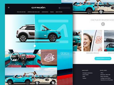 Citroen Cactus M website web cactus website blue m citroen