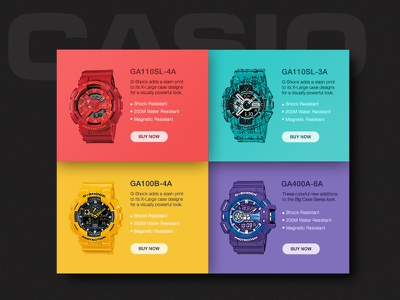 G - Shock widget slider watch widget colors gshock casio