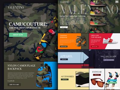 Valentino Web colors apparel desktop website shoes web valentino