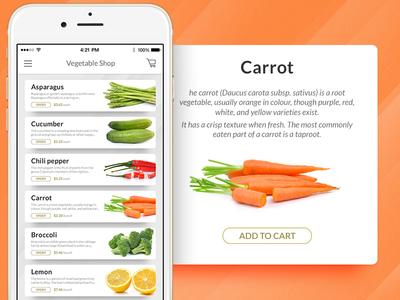 Vegetable Store app store shop vegetable orange carrot iphone ios
