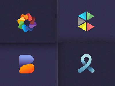 Logotype Showcase cancer pyramids circle b design branding colors visual logotype