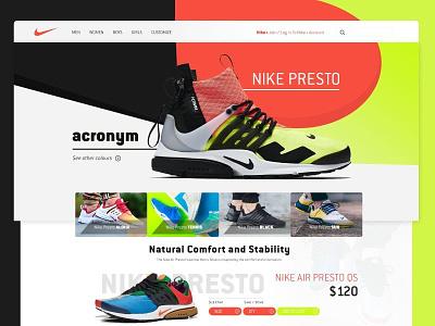 Nike Presto Web cart uiux website sneakerhead sneakers weshop shoes presto nike