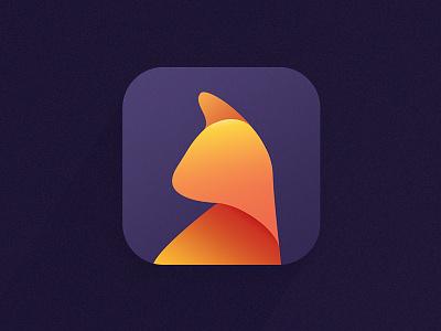 Cat Icon app orange catinspired icon gradient logotyope cat