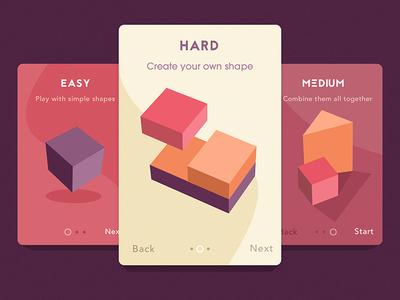 Shape Builder Tool shape graphic app ios purple medium hard easy introscreens shapes