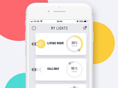 Light Shoot application ui colors smart light ikea lights uiuxdesign app uidesign light