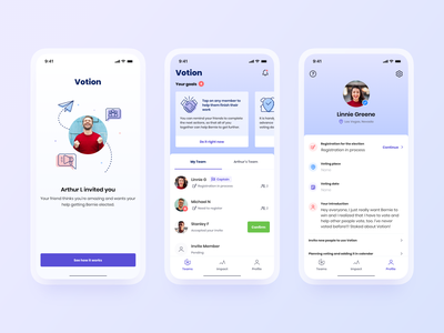 Voting iOS Application hbtat habitat voter cards ui election democracy ux team ui icons clean goverment voting app ui app interface design
