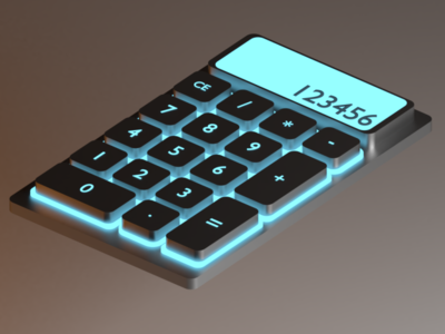 Calculator Que v1 - 3D Product Design