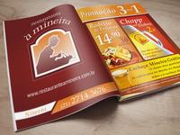 Restaurante À Mineira - Magazine Ad