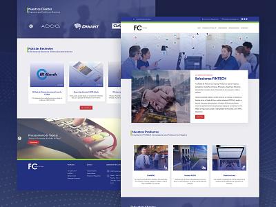 Fintech Website minimal flat prototype fintech website web ux ui nicaragua design mockup adobexd