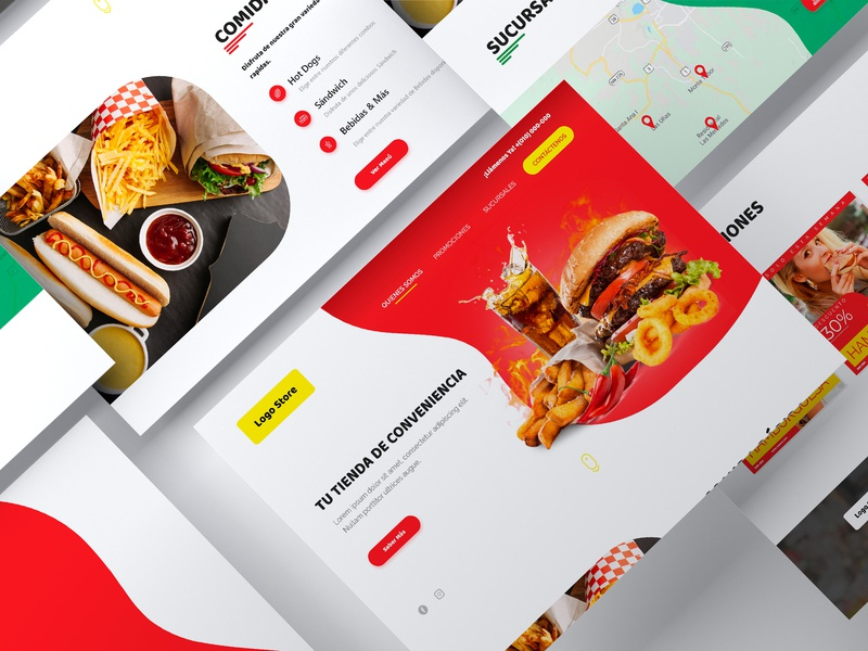 Convenience Store Landing Page food webdesign store flat minimal website web ux ui prototype nicaragua mockup design adobexd