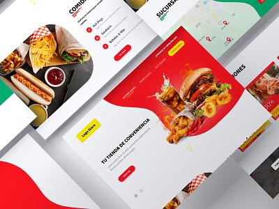 Convenience Store Landing Page food webdesign store flat minimal website web ux ui prototype nicaragua mockup design adobexd
