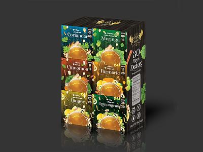 Herbal tea Inner carton design background logo vector product development illustration design typography branding photoshop illustrator inner carton package design product design
