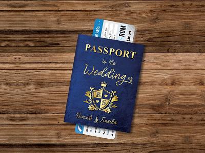 Passport for your BIG DAY photoshop illustrator