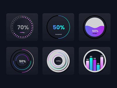 Modern widgets ui branding illustration vector background design ux illustrator graphic design widgets