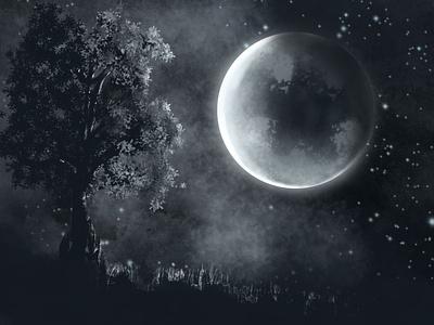 Illusions of Dark night ui background illustrator ipad drawing digital art