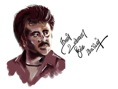 Digital art - Super Star Rajinikanth portrait digital art art illustration illustrator procreate