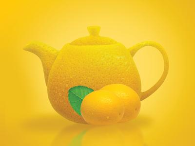 100% Orange flavored tea - Concept