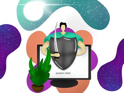 Data projection illustration photoshop illustration illustrator